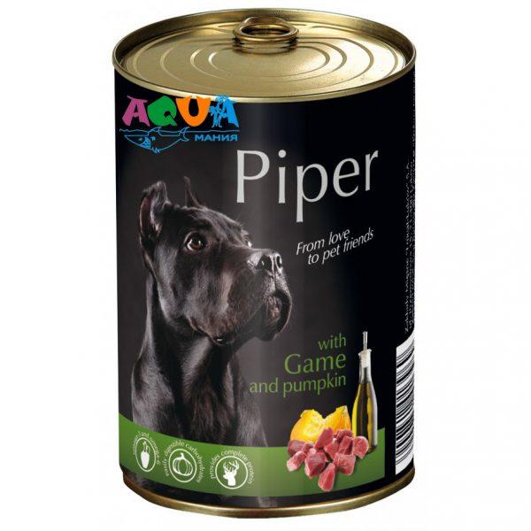 Консервы для собак Dolina Noteci Piper дичь/тыква 400 г консервированный корм для собак всех пород