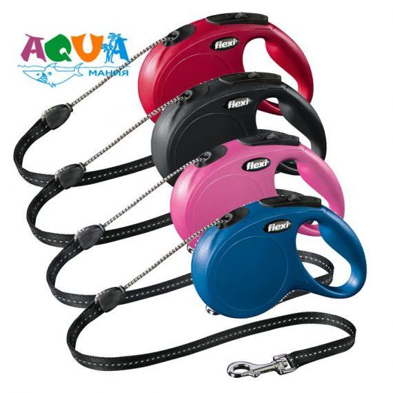 Рулетка Flexi для собак NEW CLASSIC М 5м до 20кг Трос