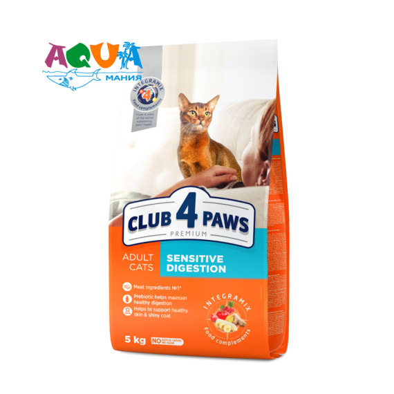 клуб 4 лапы сухой корм для котов с чувствительным пищеварением отзывы