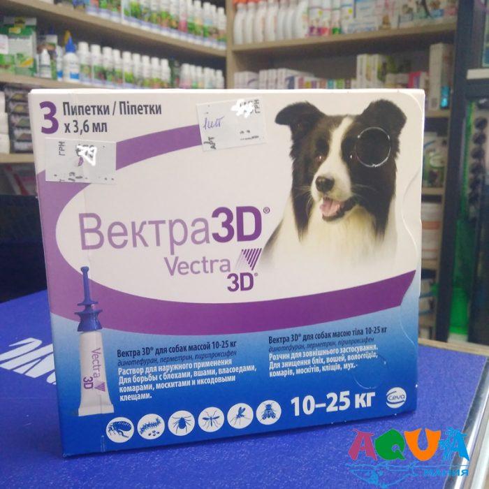 каие эфективные VECTRA 3D (Вектра 3Д) Ceva инсектоакарицидные капли от блох и клещей для собак