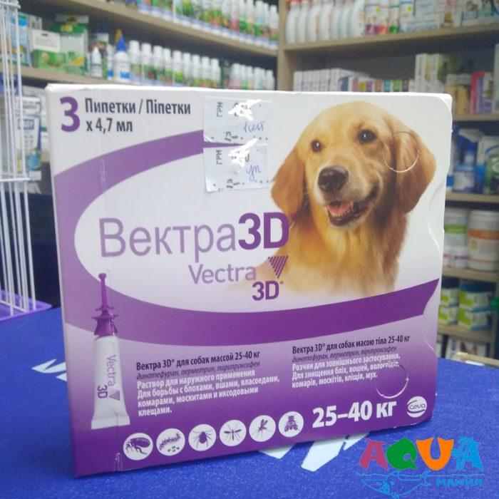 чем обработать собаку VECTRA 3D (Вектра 3Д) Ceva инсектоакарицидные капли от блох и клещей для собак