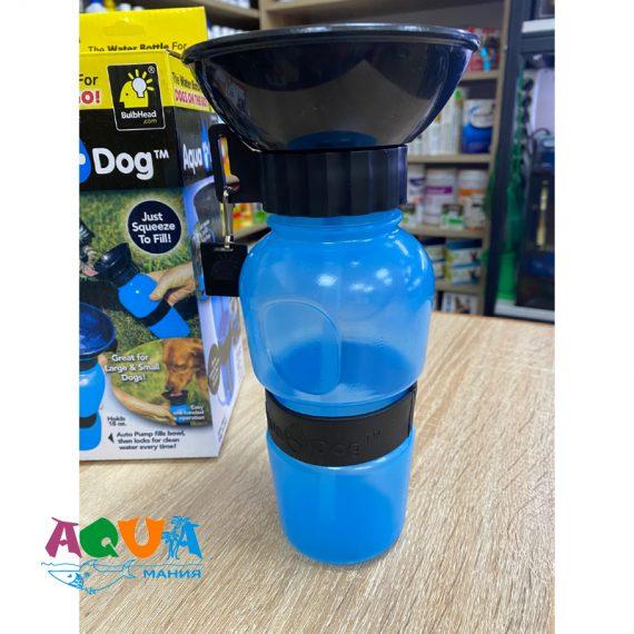 бутылка - поилка дорожная пластиковая с широким горлышком воронкой в виде тарелки для кошек и собак купить