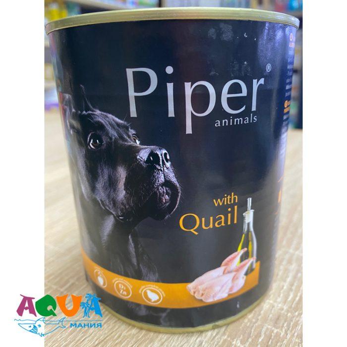 Консервы для собак DN Piper с перепёлкой 800 г консервированный корм для всех пород собак