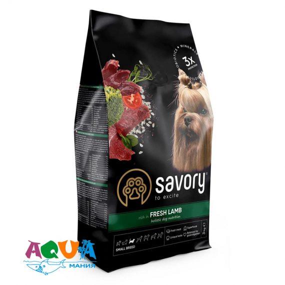 Сухой корм Savory для Собак Малых Пород со свежим мясом Ягнёнка 3 кг Купить